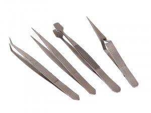 Faithfull Tweezer Set of 4