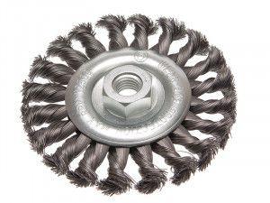 Faithfull Circular Wire Brush 115 x 12mm M14 Bore 2 0.35mm Wire