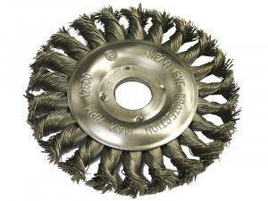 Faithfull Circular Wire Brush 125 x 12mm 22.2mm Bore 0.50mm Wire