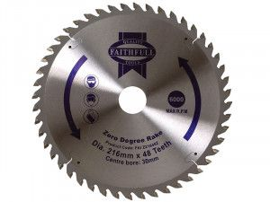 Faithfull, Professional Zero Degree TCT Circular Saw Blade