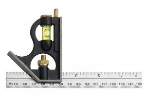 Fisher F411ME Combination Square with Aluminium Blade 150mm (6in)