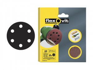 Flexovit, Hook & Loop Sanding Discs 150mm