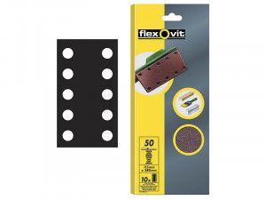 Flexovit, 1/2 Perforated Sanding Sheets 115mm x 280mm