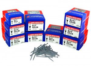 Forgefix General Purpose Pozi Screw CSK TT ZP Assortment 1400 Piece