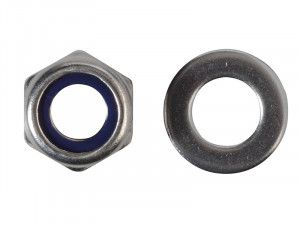 Forgefix, Hexagonal Nuts with Nylon Inserts, S/S