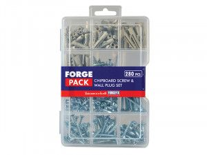Forgefix Screw & Wall Plug Kit Forge Pack 280 Piece