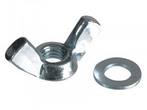 Forgefix, Wing Nut & Washers, ZP
