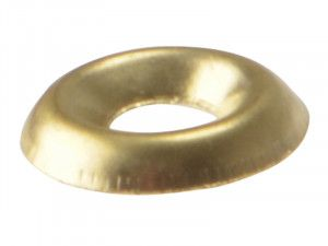 Forgefix, Screw Cup Washers, Polished Brass