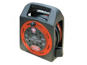 Faithfull Power Plus, Easy Reel Cable Reels, 4 Socket