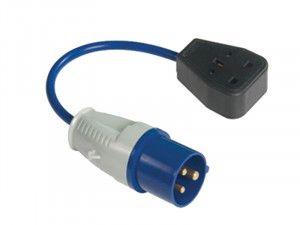 Faithfull Power Plus Fly Lead 240 Volt 3 Pin Plug to 240v 3 Pin Socket & 35cm Lead