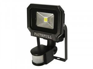 Faithfull Power Plus COB LED Security Light with PIR 10 Watt 240 Volt