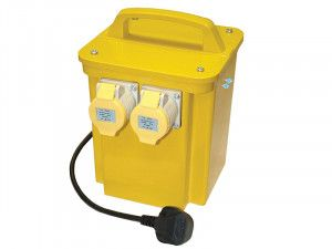 Faithfull Power Plus Transformer 3.3kva Dual Socket