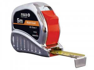 Fisco TMC5M Chrome Tri-matic Tape 5m (Width 19mm)