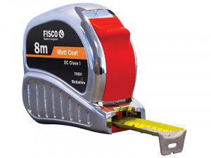 Fisco TMC8M Chrome Tri-Matic Pocket Tape 8m (Width 25mm)