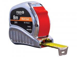 Fisco TMC8ME Chrome Tri-Matic Pocket Tape 8m/26ft (Width 25mm)