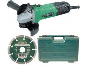 Hitachi, G12SSCD Angle Grinder In Kitbox 580 Watt