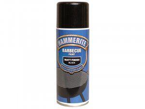 Hammerite BBQ Paint Aerosol Black Matt 400ml