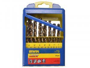 IRWIN Turbo Max HSS Drill Bit Set of 19