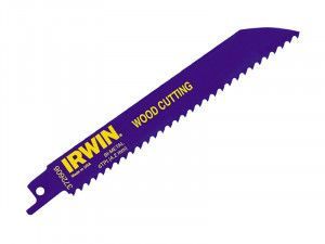 IRWIN 606R 150mm Sabre Saw Blade Fast Cutting Wood Pack of 5
