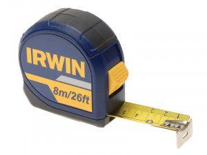 IRWIN Standard Pocket Tape 8m/26ft (Width 25mm) Carded