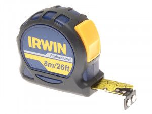IRWIN Professional Pocket Tape 8m/26ft (Width 25mm) Carded