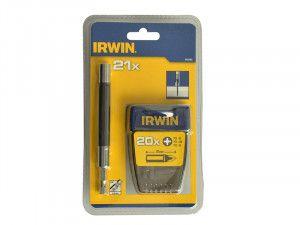 IRWIN 1840465 Screwdriver Bit Set Assorted 21 Piece