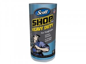 Kimberley Clarke SCOTT® Blue Heavy-Duty Shop Cloth Roll