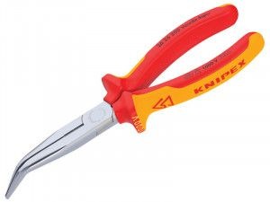 Knipex Bent Long Nose Side Cutters VDE Certified Grip 200mm