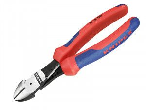 Knipex High Leverage Diagonal Cutters Multi-Component Grip with Spring 180mm (7in)