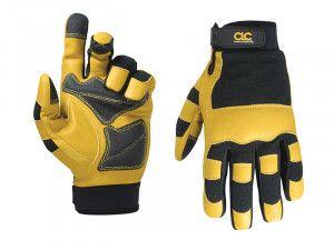 Kuny's Hybrid-275 Top Grain Leather Neoprene Cuff Gloves Large (Size 10)