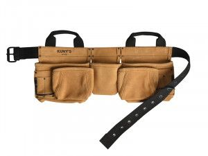 Kuny's AP-622A Carpenter's Apron 11 Pocket Split Grain Leather