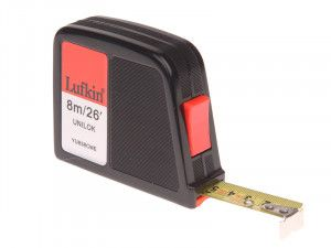 Lufkin YU838CME Unilok Pocket Tape 8m/26ft (Width 19mm)