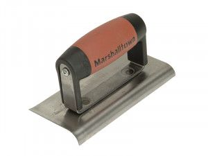 Marshalltown 176D Cement Edger Curved & Straight End Durasoft® Handle 6 x 3in