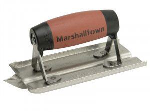 Marshalltown M180D Stainless Steel Groover Trowel Durasoft® Handle 6 x 3in