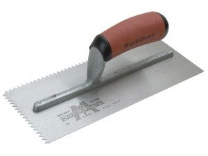 Marshalltown Notched Trowel 701SD V 3/16in DuraSoft® Handle 11 x 4.1/2in