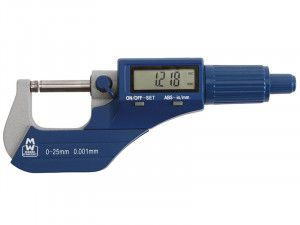 Moore & Wright MW200-01DBL Digital External Micrometer 0-25mm/0-1in 0.001mm/.00005in