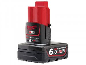 Milwaukee M12 B6 REDLITHIUM-ION™ Battery Pack 12V 6.0Ah Li-Ion