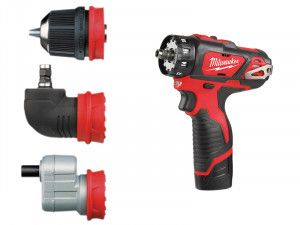 Milwaukee M12 BDDX KIT-202C Removeable Chuck Drill Driver 12V 2 x 2.0Ah Li-Ion