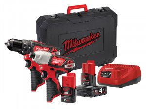 Milwaukee M12 BPP2B Compact Twin Pack 12V 1 x 4.0Ah & 1 x 2.0Ah Li-Ion