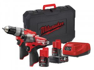 Milwaukee M12 CPP2C-422C Fuel™ Twin Pack 12V 1 x 4.0Ah/1 x 2.0Ah Li-Ion