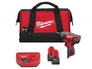 Milwaukee M12 SET1D Drill Driver Kit 12V 2 x 1.5Ah Li-Ion