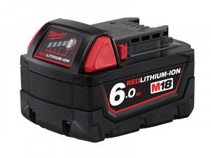 Milwaukee M18 B6 REDLITHIUM-ION™ Slide Battery Pack 18V 6.0Ah Li-Ion