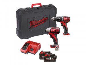 Milwaukee M18 BPP2C-402 Twin Pack 18V 2 x 4.0Ah Li Ion
