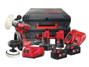 Milwaukee M18 FPP2K-544X FUEL™ Polisher Pack 18V 2 x 5.0Ah, 12V 1 x 2.0Ah & 1 x 4.0Ah