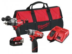 Milwaukee M18 ONEPP2O FUEL™ ONE-KEY™ Twin Pack 12/18V 1 x 5.0Ah/1 x 2.0Ah
