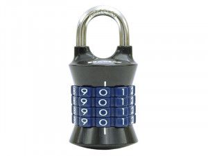 Master Lock Tower 37mm Padlock 4-Digit Grey