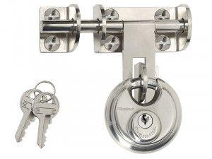 Master Lock Hasp 116mm + Discus Padlock 60mm
