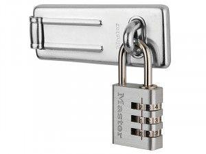 Master Lock Hasp 89mm + 3-Digit Combination Padlock 30mm