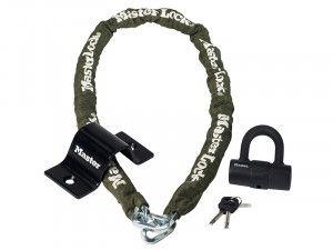 Master Lock Security Kit Mini D Lock Anchor & Chain 1.5m x 8mm