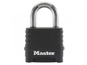 Master Lock Excell™ 4-Digit Black Finish Combination 50mm Padlock